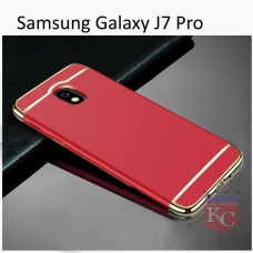 3 In 1 Ultra Thin Hard Coated Matte Surface Back Cover for Galaxy J7 Pro - Red
